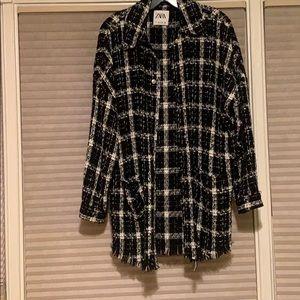 Knit Zara oversized Button up